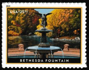 US 5348 Express Mail Bethesda Fountain $25.50 single (1 stamp) MNH 2019