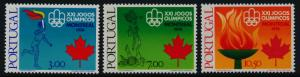 Portugal 1291-3 MNH Olympic Sports, Athletics