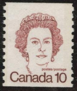 Canada Scott 605 MNH** QE2 coil