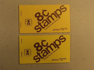 USPS Scott 1395 8c Eisenhower 1971 2 Books Of 25 50 Stamp...