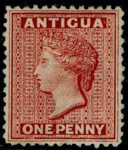 ANTIGUA SG13, 1d lake, M MINT. Cat £200.