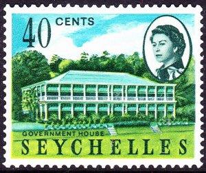 SEYCHELLES 1962 QEII 40 cents Multicoloured SG202 MH