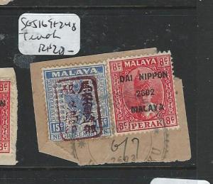 MALAYA JAPANESE OCCUPATION NS+ PERAK (PP0604B) 15C+8C PIECE  TEMOH  CDS VFU