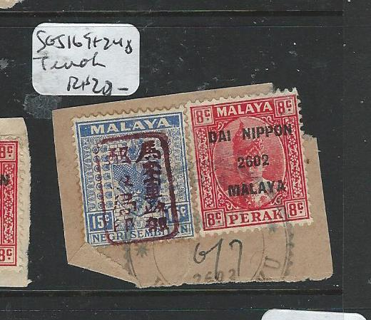 MALAYA JAPANESE OCCUPATION NS+ PERAK (PP0604B) 15C+8C PIECE  TEMOH  CDS VFU