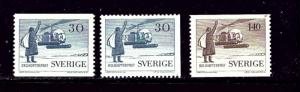 Sweden 518-20 MNH 1958 Helicopter Post