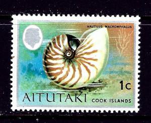 Aitutaki 83 MNH 1974 Sea Shell     #2