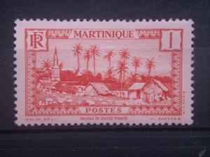 MARTINIQUE, 1933, MNH 1c, Village of Basse-Pointe Scott 133