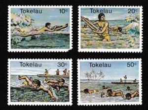 Tokelau Water Sports 4v D1 SG#73-76 SC#73-76