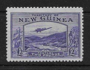 NEW GUINEA SG204 1935 £2 BRIGHT VIOLET AIR MTD MINT
