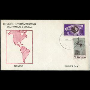 MEXICO 1962 - FDC-926+C263