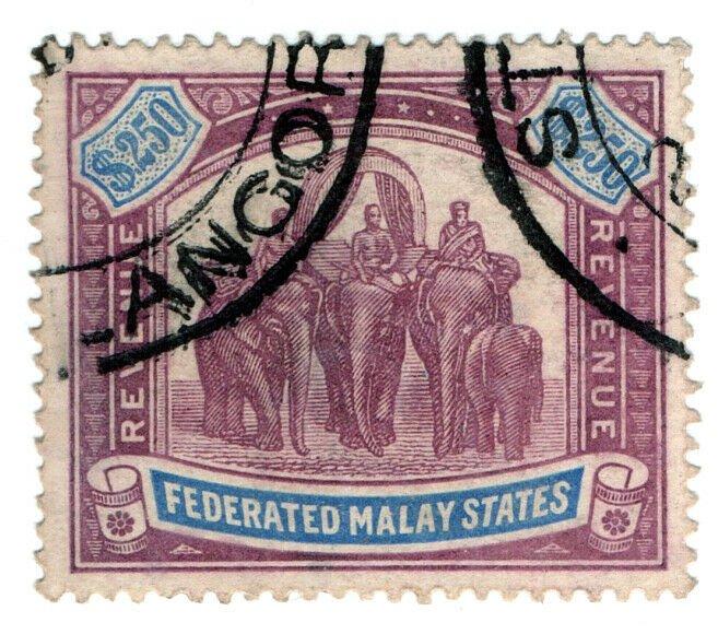 (I.B) Federated Malaya States Revenue : Duty Stamp $250