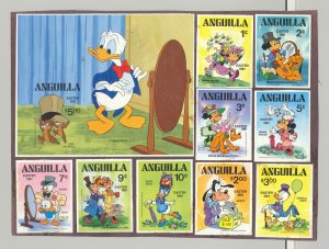 Anguilla #434-443 Disney, Easter 9v & 1v S/S Imperf Proofs