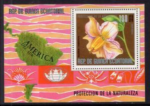 Equatorial Guinea 76159 Flowers Souvenir Sheet MNH VF