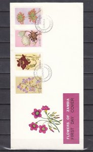 Zambia, Scott cat. 208-284. Flowers of Zambia issue. First day cover. ^