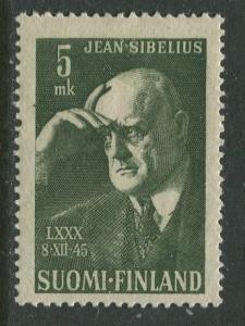 Finland - Scott 249 - Jean Sibelius -1945- MLH - Single 5m Stamp