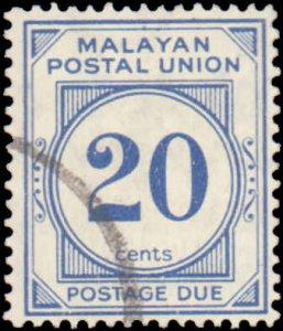 Malaya - Federation of Malaya #J19, Incomplete Set, 1945-1949, Used