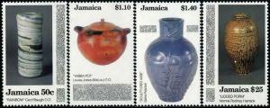 HERRICKSTAMP JAMAICA Sc.# 782-85 Pottery