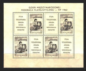 Poland. 1962. ml1337. Painting, paintings. MNH.