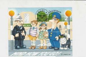 Isle of Man Postman Pat 1994 Special Cancel Stamp Sheet ref R 17782
