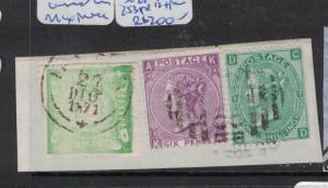 Great Britain Used in Callao Mixed Piece SG Z42 Pl9 + Z53 Pl5 (1dqi)