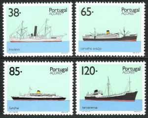 Portugal Azores 410-413, MNH. Ships, 1992