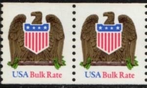 US Stamp #2604 MNH - Eagle and Shield Pair w/ Low Gloss Gum
