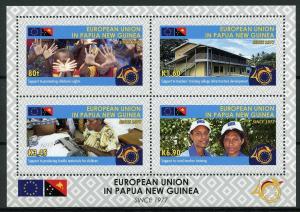 Papua New Guinea PNG 2018 MNH EU European Union 4v M/S Flags Cultures Stamps