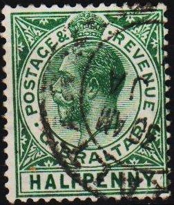 Gibraltar. 1912 1/2d S.G.89 Fine Used