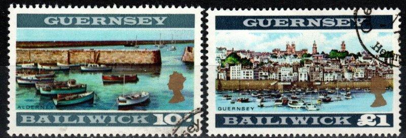 Guernsey #22a-23a   F-VF Used  CV $43.50 (X1650)