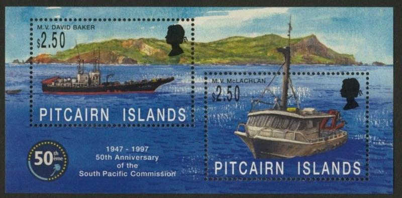 Pitcairn Islands 464 MNH Ships, South Pacific Commission