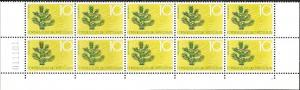 Liechtenstein MNH Block of 10 issued 1966 # 406  Tree
