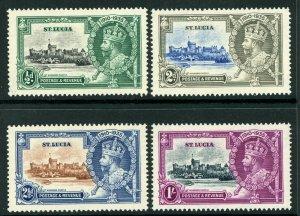 British 1935 Silver Jubilee St Lucia Scott # 91-94 Mint C424