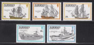 Alderney 55-59 Hinged 1990 HMS Alderney