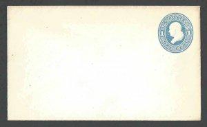 1874 U113 1c Blue On White Mint Entire Die 47 Size 7 Wmk 7
