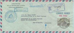 84328 - VENEZUELA - POSTAL HISTORY - Diplomatic Mail COVER to HAITI  1960