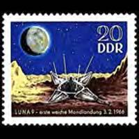DDR 1966 - Scott# 819 Moon Landing Set of 1 NH