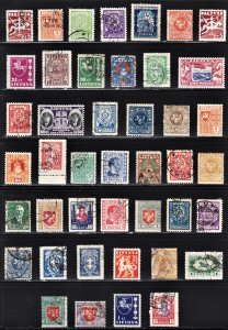 Lithuania 43 different mint OG H or HR & used. All fault free.