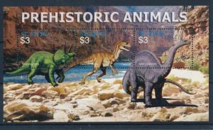 [36033] St. Kitts 2005 Pre Historic Animals Dinosaurs MN Sheet