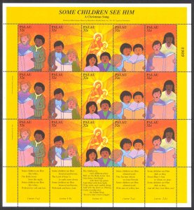 Palau Sc# 450 MNH Pane/15 1997 Christmas