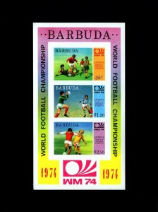 Barbuda MNH S/S 166a Munich World Cup Soccer 1974