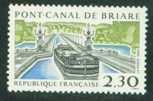 FRANCE Scott 2216 Yvert 2658 MNH** Canal Barge Boat 1990