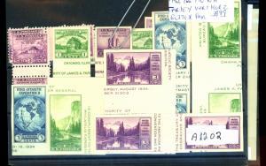 752 766-70 (5 Sets) MINT Horz and Vert Gutter Pairs VF NH Cat$255