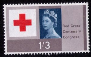 Great Britain Sc #399 MNH 1SHILLING 3P RED CROSS F-VF