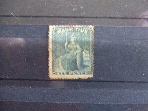 Mauritius QV 1863 6d slate SG54