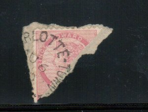 Prince Edward Island #5e Used Bisect On Cover Piece Tied By Charlottetown CDS