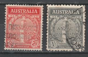 AUSTRALIA 1935 ANZAC SET USED