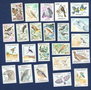 MONACO -  - FVF MNH - BIRDS - 1962-1993