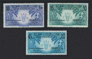 Libya First International Dates Conference Tripoli 3v SG#236-238 MI#82-84