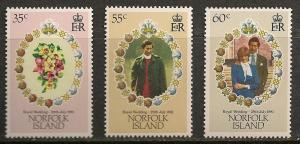 Norfolk Island #280-82 VF MNH - 1981 Royal Wedding Issue