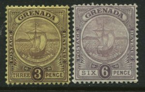 Grenada 1904 3d and 6d mint o.g. hinged
